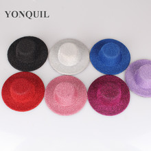 "Free shipping  4""(10cm) 8 color  mini top fascinator hats,blingbling children party hats,24 pieces/lot MH005"