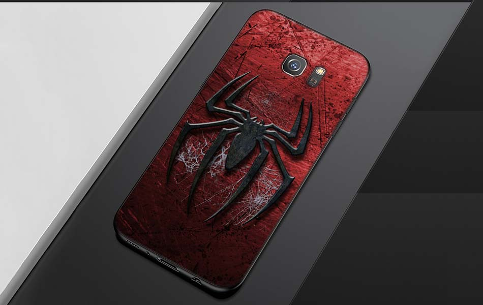 spiderman marvel superheroes Pattern Soft Silicone Black Cellphone Cases for Samsung S7 S7edge S8 S8Plus S9 SPlus Note 8