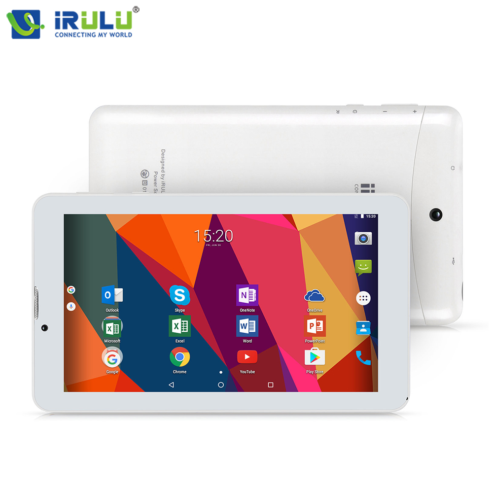 "Original iRULU X6 3G Phablet 7"" Android 7.0 Tablet Phone Call Quad Core 1024x600 IPS 1GB/16GB WiFi Dual Cams Ultra Slim Netbook(China)"