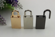 6 pcs/ lot Pale golden hardware accessories hang act the role ofing padlock bags padlock