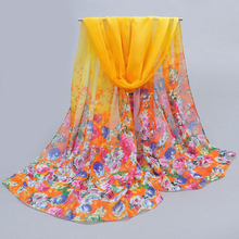 2017 chiffon scarf women's silk scarf spring autumn hot sell silk women's summer emulation patterns polyester sunscreen cape(China)