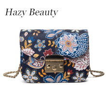 Hazy beauty flora land printed women bag pu leather lady messenger bag easy chic girl cross body fashion boutique hot sellDH877