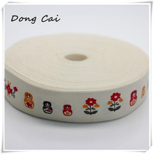 20yards/lot Russian dolls printed cotton belt Academy offerings decorative supplies Outing rural small backpack sewing ribbon