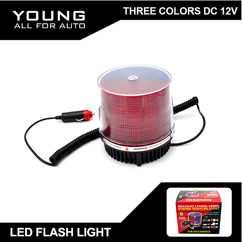 2015 New Arrival  DC12V LED 30W  Changeable Color Red Blue Amber White Police Red Blue Light Lamp led flash light  Free shipping<br>