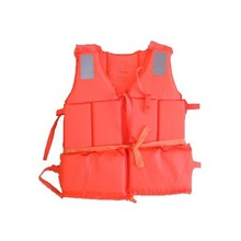 Bulk Whoesale Professional Orange Foam Swimming&Flood Life Jacket with Whistle Free Shipping(China)