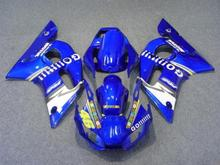 GO!!!!Motorcycle Fairing kit for YAMAHA YZFR6 98 99 00 01 02 YZF R6 1998 2000 2002 YZF600 Blue ABS Fairings Set+7gifts YX18