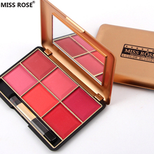 brand miss rose 6 Colors/pcs Professional Matte Portable Rouge Clear skin blush Palette Make up Cosmetic Smoky/Warm Color makeup