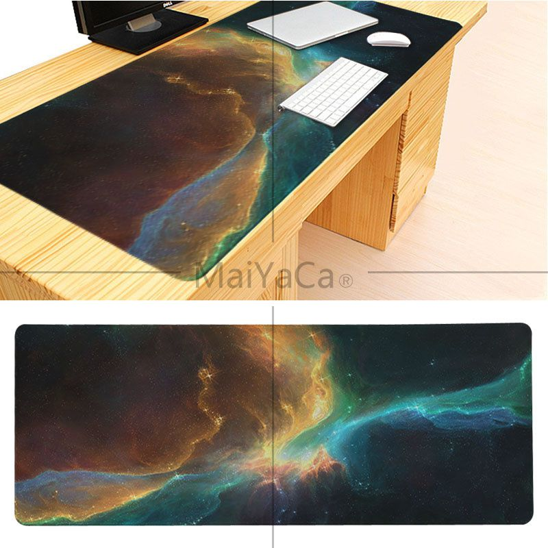 MaiYaCa Boy Gift Pad The Space Wallpaper Large Mouse pad PC Computer mat Good quality Locking Edge large Game Mouse Pad 6