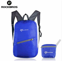 ROCKBROS Ultralight Waterproof Cycling Bicycle Folding Backpack Breathable Portable Bag for Cycle Riding Outdoor Sports