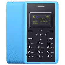 AIEK X7 1.0 inch 4.8mm Ultra-thin And small card mobile phone Bluetooth 3.0 1SIM / Single-Band Portable Children Cellphone(China)