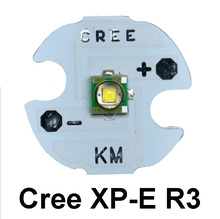 CREE XPE R3 LED Chip 3W High Power light XP-E LED Lamp CREE R3 LED Emitter with 16MM heatsink Cool White(China)