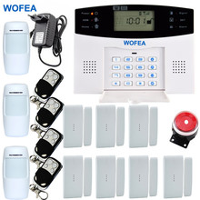 Russian Spanish Home Security gsm alarm system LCD Wireless GSM SMS Call Auto dial Voice Home Security Alarm System