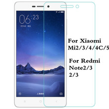 0.26mm 9H Premium Tempered Glass For Xiaomi Redmi 2 3 Note 2 3 Mi2 Mi3 Mi4 Mi4C Mi4s Mi5 Glass Phone Screen Protector Film