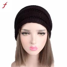 Women Hats 2017 Fashion Casual Female Skullies Beanies Women Ladies Winter Knitting Hat Turban Hat Cap Bonnet(China)