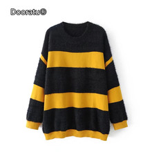 Buy black yellow striped sweater and get free shipping on ...