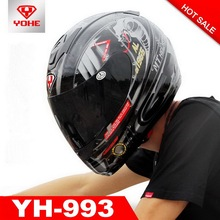 2016 New YOHE motorcycle helmet full Face electric bicycle motorbike helmets made of ABS for men women YH993 Apollo edition