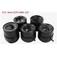 cctv lens f1.2  for cctv camera 4mm iris lens manual zoom lens CS interface monitoring  camera lens
