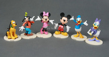 New 6pcs Set   Mickey and Minnie Mickey Mouse Clubhouse Figurine Deluxe Figure Set