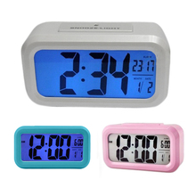 New Big Display Digital LED Clock Desk Table LED Alarm Clock For Home Decor E2shopping