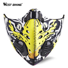 WEST BIKING Winter Face Mask Carbon Windproof Dustproof Hiking Skiing Mask Outdoor Sports MTB Riding Bike Bicycle Face Mask