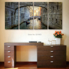 Art Print Oil Painting City Canal Decoration Painting  Home Decor On Canvas Modern Wall Art Canvas Print Poster Canvas Painting