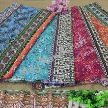1Meter/Lot Soft Linen Cotton Fabric 4 Colors  African Style Printed Linen Cotton Fabric for Skirt Garment Curtain Cloth Dress