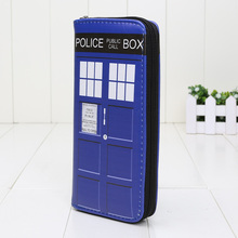 Doctor Who Wallets Cartoon Movie TV Dr Who PU Purse Toys Zipper Long Wallet Tardis cosplay money bag gift