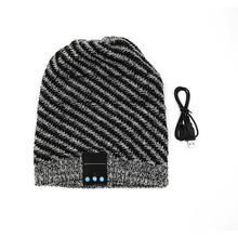 Unique Soft Warm Hat Wireless Bluetooth Music Knit Hat with Handsfree Smart Cap Headset For Phones New Hot Selling(China)