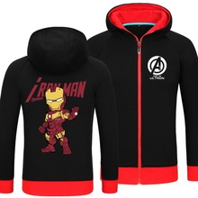 Marvel Series Hoodie The Avengers 2 Iron Man thick Coat long sleeve clothing unisex sportswear dress costume winter overcoat(China)