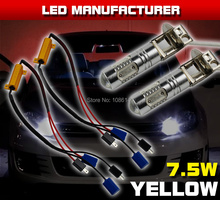 Plug&Play 2x H3 White Yellow Red 5COB  7.5W Hight Power LED Light Car Fog Headlight Driving W/ Resistors Decoder Wirings