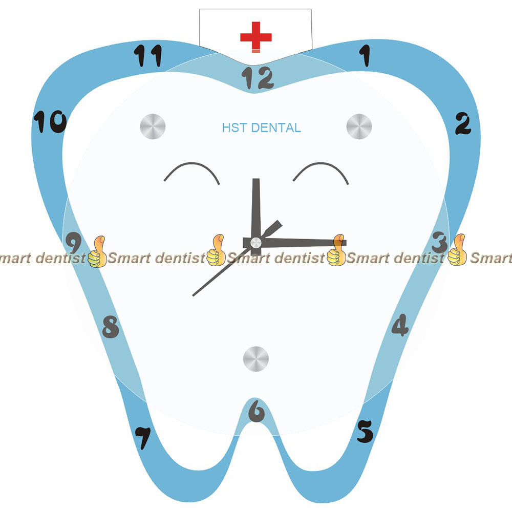 dental wall handing clock for dental clinic  teeth model clock <br>