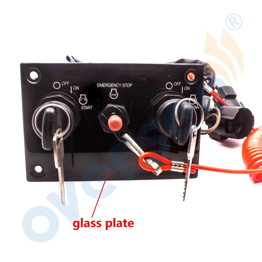 12V Ignition Dual Key Switch Penel For Yamaha Outboard Engine 6K1-82570-13-00 US