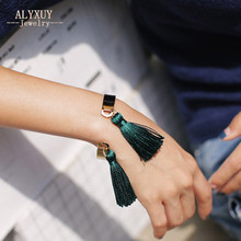 New fashion accessories jewelry tassel dangle cuff bangle women lovers' gift B3430