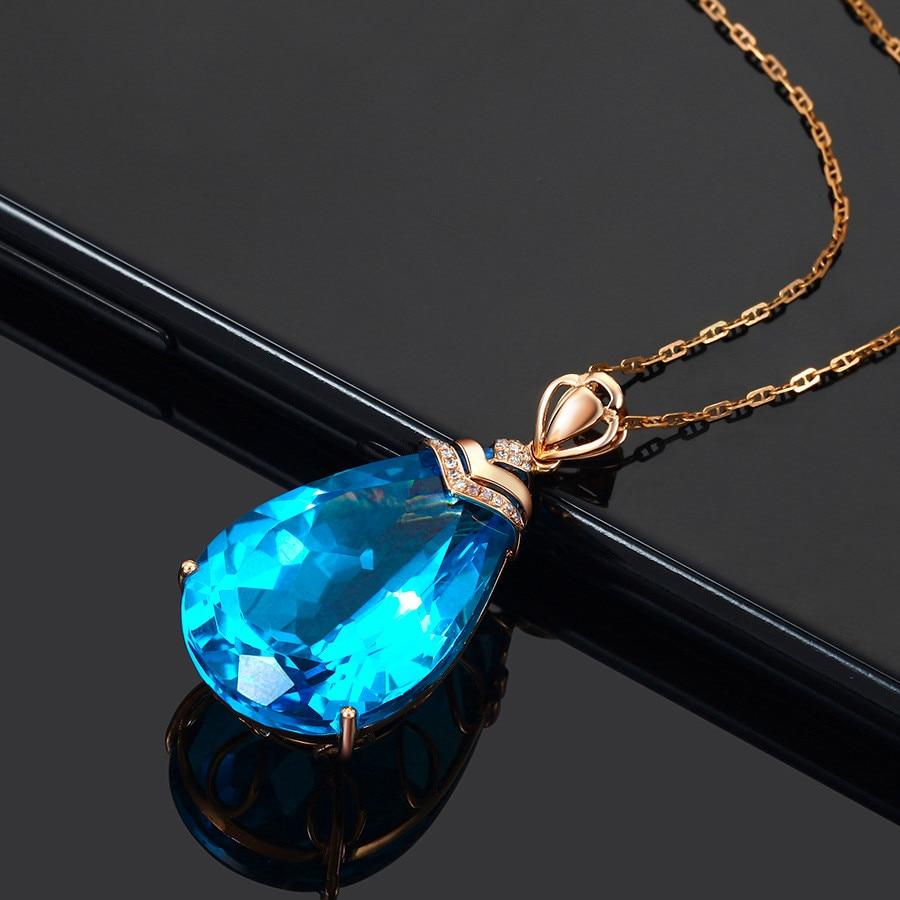 Blue pendant long necklace