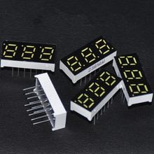 "5pcs LED Display 7 Segment 3digits Character White Signs LED Cube Tube 0.28inch 7-segment LED Display Common Cathode 0.28"" 3BIT"