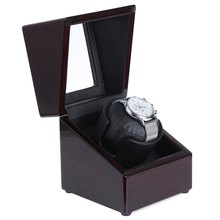 2017 New Luxury Rotary Automatic Rotating Wooden Watch Winder Display Box High Gloss Piano Paint Watch Winder Wristwatch Box