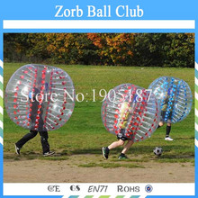 Free Shipping TPU Bubble Football 1.2m Red or Blue, Loopy Ball, Body Zorb Bumper Ball For Kids(China)