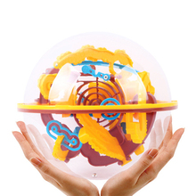 19cm 3D Magic Intellect Ball Marble Puzzle Game perplexus magnetic balls IQ Balance toy Educational classic toys Maze Ball,base(China)