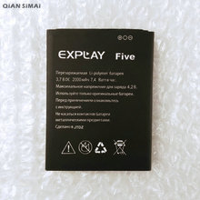 QiAN SiMAi 1pcs 100% high quality EXPLAY five 2000mAh Battery For EXPLAY five Mobile Phone  Freeshipping+Tracking Code