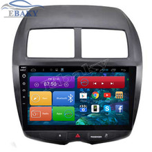 New 1024*600 10.2'' Quad-Core Android 4.4 Car Radio for Mitsubishi ASX 2010-2015 With Bluetooth 16GB Nand Flash 3G Wifi Maps