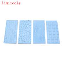 LIMITOOLS Tree Bark and Brick Wall Impression Mould Gum Paste Impression Mat Fondant Cake Decorating Supplies Cupcake Decoration(China)