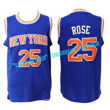 Adult Arrival #25 Derrick Rose basketball Jersey Men's Rev 30 Derrick Rose #25 Jersey Cheap sales Embroidery Logos Free Shipping
