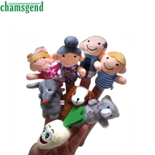 CHAMSGEND 8pcs Finger Hand Puppets Plush Toys For Kids Animal Family Finger Gloves puppets baby reborn dolls  Education WOct1