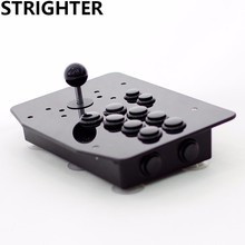 arcade joystick 10 buttons all black pc controller computer game King of fighters Joystick Consoles