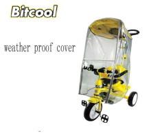 Bitcool Hot Sale Baby Stoller Raincover Tricycle Bike Rain cover Wind Resisting Protective window three wheel stroller Raincover