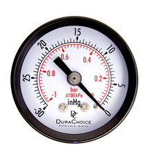 "Mas Tech 1-1/2"" Dry Utility Vacuum Pressure Gauge Steel 1/8"" Center Back -30HG/0PSI Drop Shipping Wholesale(China)"
