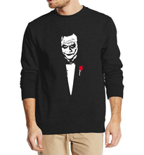 Joker Heath Ledger Why So Serious Hip Hop Men's Sweatshirt 2017 Autumn Punk Batman Sweatshirts Hoodies Men Loose Fit Hooded(China)