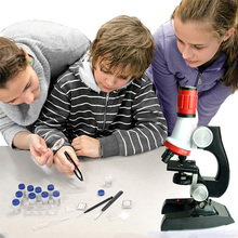 Educational Microscope Kit Lab LED 100X-1200X Home School Educational Toy Gift For Kids Boys 88 BM88