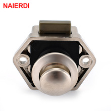 NAIERDI Camper Car Push Lock Diameter 20mm RV Caravan Boat Motor Home Cabinet Drawer Latch Button Locks For Furniture Hardware