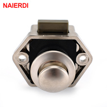 NAIERDI Camper Car Push Lock Diameter 20mm RV Caravan Boat Motor Home Cabinet Drawer Latch Button Locks For Furniture Hardware(China)